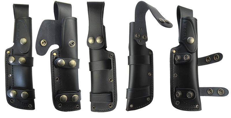 black leather Kodiak sheath