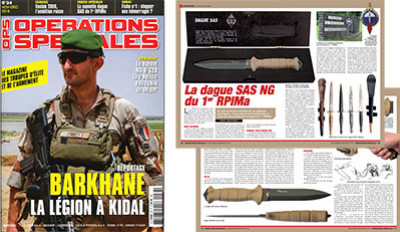 The french magazine Operations Speciales speaks of our SAS dagger.
